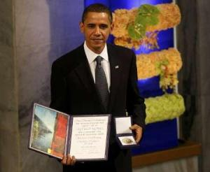 President Obama Accpeting Nobel Peace Prize