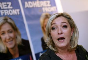 Marine LePen, Leader of the French National Front.