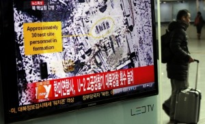 South Korean Television covers the North Korean Nuclear Test
